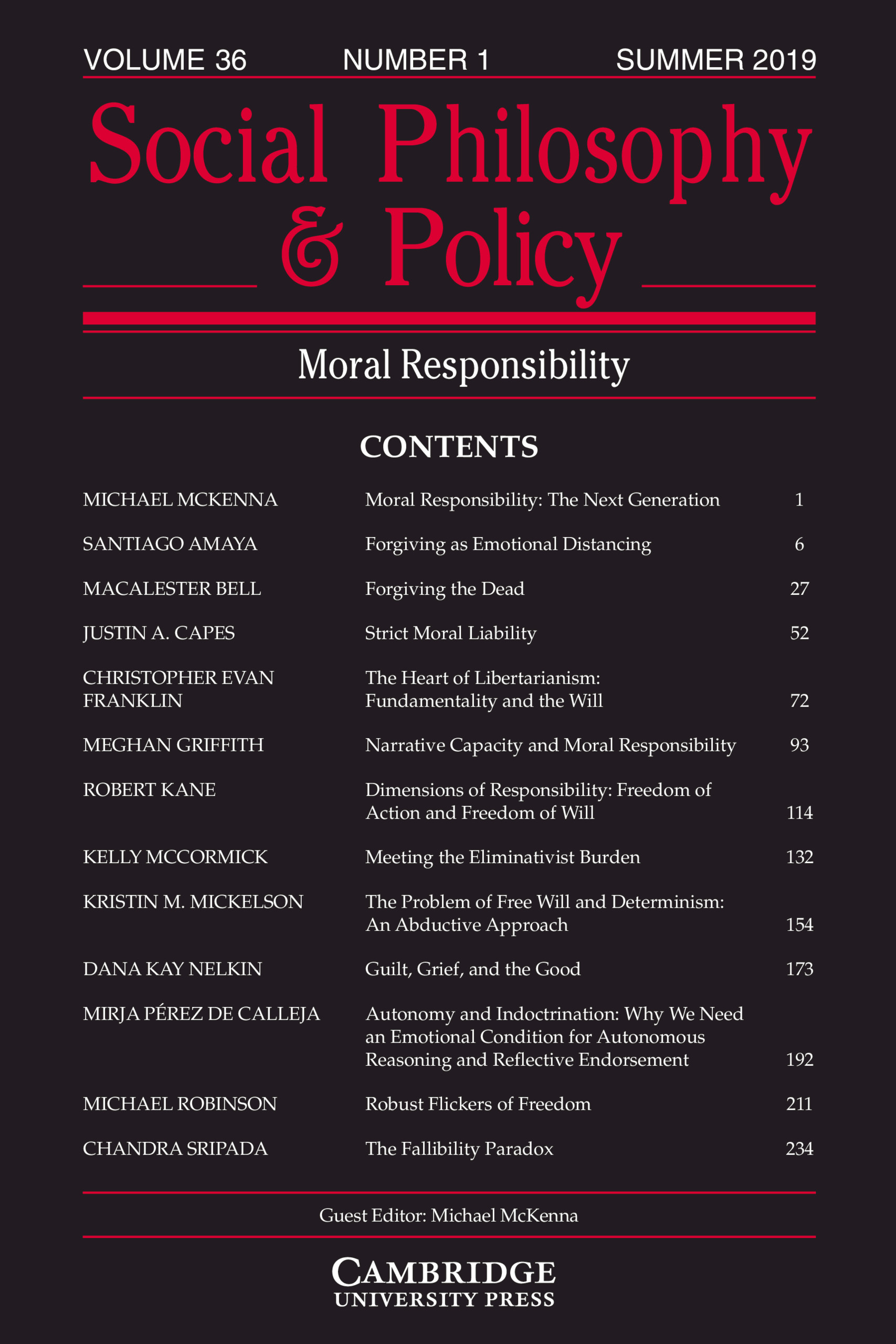 Moral Responsibility Cover