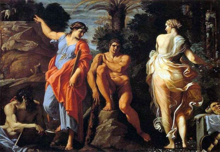 "Painting - Carracci ""The Choice of Hercules"" 1596"
